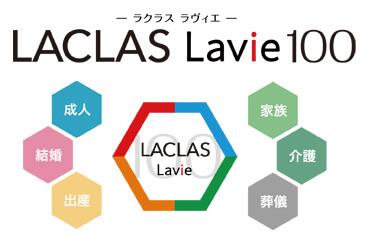 LACLAS Lavie 100ロゴ